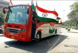 दिल्ली से 150 युवक तिरंगे के साथ श्रीनगर NIT निकले