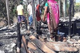 बिहार का मुज़फ़्फ़रपुर का पारू फिर से आग के लपेट मे