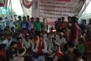 गरीब जनक्रांति पार्टी के समर्थकों एवं ग्रामीणों ने किया हथौड़ी थाने का घेराव।
