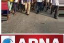 रजवाड़ा चौक के निकट सड़क दुर्घटना में मृत्यु। मुआवजे की मांग।