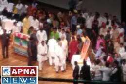 छात्र ने CM नितीश कुमार के ऊपर फेंकी चप्पल।