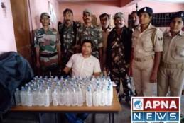 रतनपुर गांव से 98 बोतल देसी शराब बरामद की।