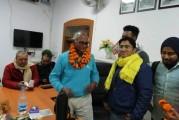 मिथिला स्टूडेंट युनियन के बिहार विश्वविद्यालय टीम ने ललित नारायण तिरहुत (LNT) महाविद्यालय के नये प्राचार्य का फूल माला से स्वागत किया